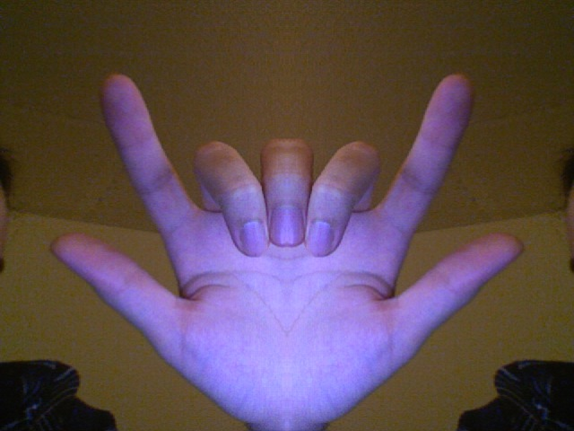 The Hand People often ask me what does the hand in my avatar mean