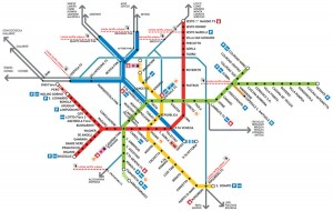 Milan Subway Metro Map